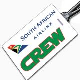 S.A.A. Airlink Crew Tag